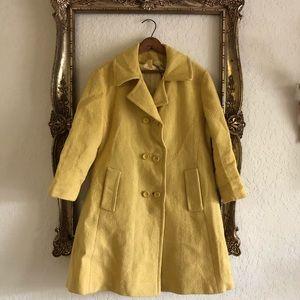Vintage Yellow Fall/Winter Pea coat